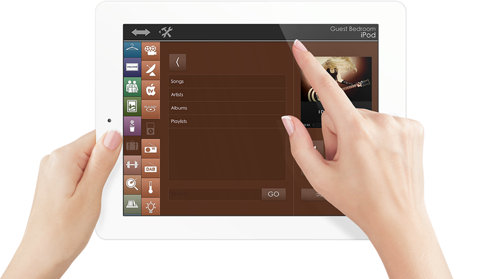 User Experience Slide Ipad Music Crestron