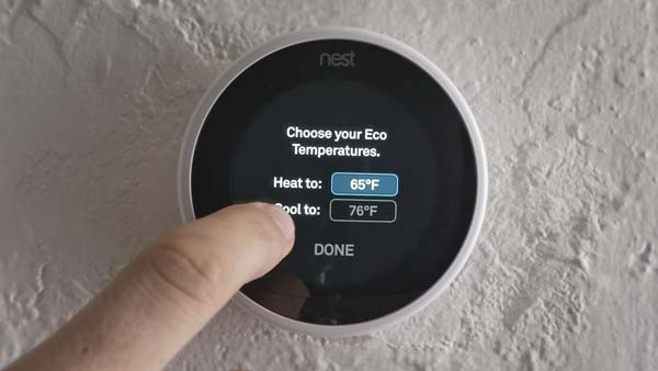 Options on Nest Thermostat