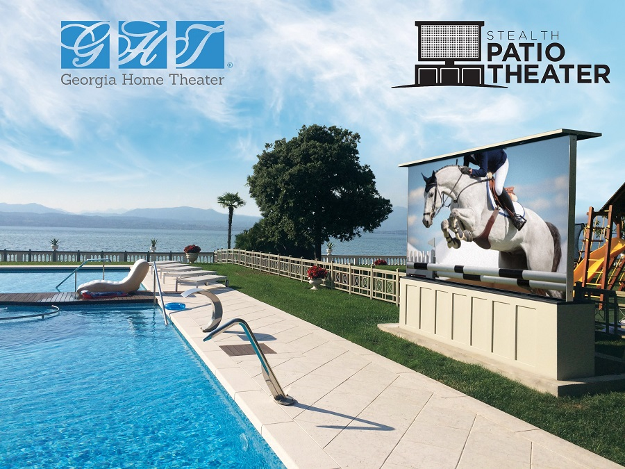 Ready for an Outdoor TV? Meet the Stealth Acoustics Patio Theater.